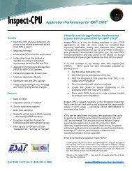 Inspect-CPU Datasheet - Enterprise Systems Associates, Inc.