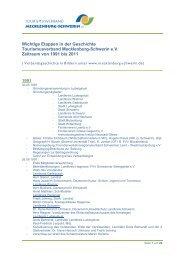 Wichtige Etappen in der Geschichte Tourismusverband Mecklenburg