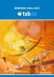 MEMORIA 2004-2005 - TSB - UPV
