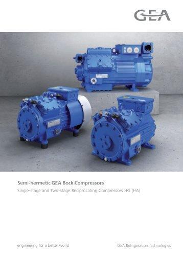 Semi-hermetic GEA Bock Compressors - Gafco-Altron bv