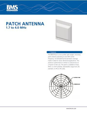 PATCH ANTENNA - Broadcast Microwave Services