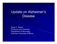Update on Alzheimer's Disease