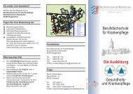 Berufsfachschule für Krankenpflege - Bezirksklinikum Mainkofen
