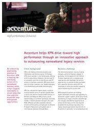 Accenture helps KPN drive toward high performance through an ...