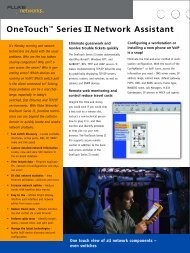 OneTouch™ Series II Network Assistant - netscope solutions