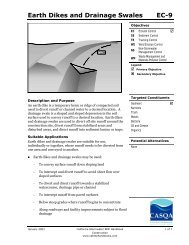 Earth Dikes and Drainage Swales EC-9 - (BMP) Handbooks