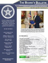 THE BOARD'S BULLETIN - State of Oklahoma Web Site