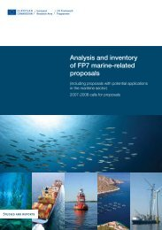 Analysis and inventory of FP7 marine-related proposals - European ...