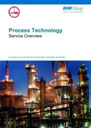 Process Services Overview - BHR Group