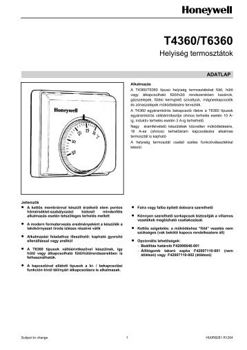 T6360 adatlap - VF Automatika Kft.