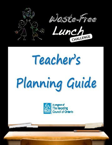 Teacher's Planning Guide - Waste-Free Lunch Challenge