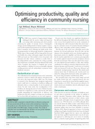 Optimising productivity, quality and efficiency in community nursing