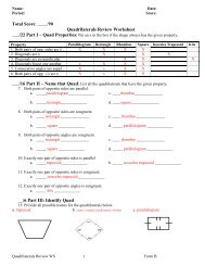 Quadrilateral Review WS