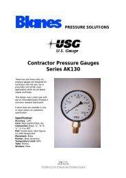 Contractor Pressure Gauges Series AK130 - Blanes Pressure ...