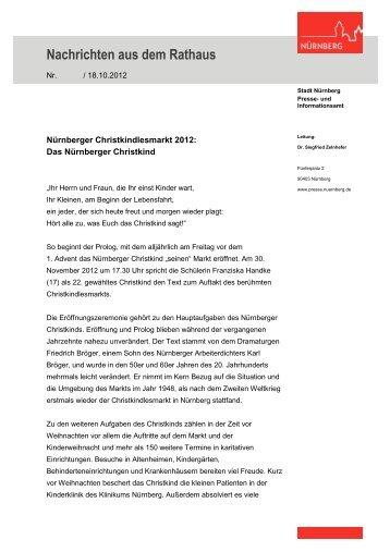 Nachrichten aus dem Rathaus - Stadt Nürnberg