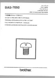 Parts book for Brother BAS-7050 - Superior Sewing Machine and ...