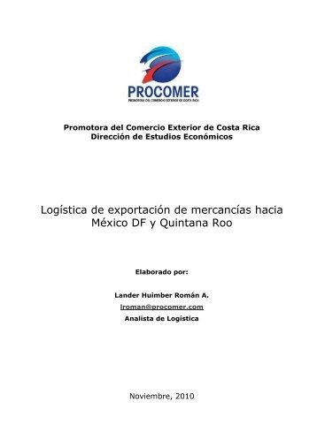 Logística de exportación de mercancías hacia México DF - Procomer