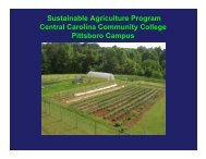 Sustainable Agriculture Program Central ... - Feast Down East