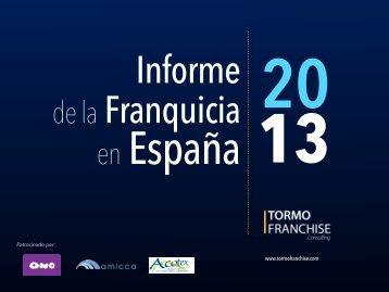 Informe de la Franquicia en España 2013 - Tormo Franchise