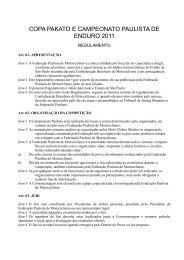 Baixe Aqui o arquivo em PDF dos Regulamentos de 2011