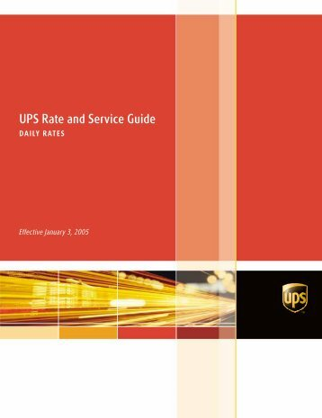 2005 UPS Rate and Service Guide