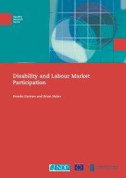 Disability and Labour Market Participation - European Social Fund ...