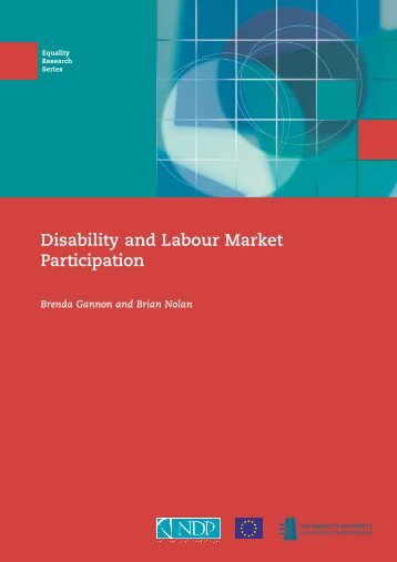 Disability and Labour Market Participation - European Social Fund ...