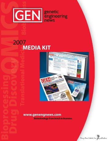 2007 Media Kit - Genetic Engineering News