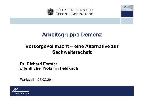 20110221 vortrag dr forster vorsorgevollmacht em