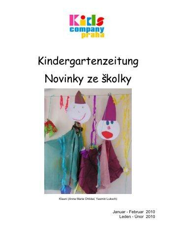 Kindergartenzeitung Novinky ze školky - Kids Company Praha
