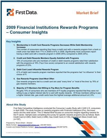 2009 Financial Institutions Rewards Programs ... - First Data