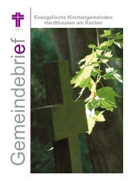 Winterbrief 3/2012 - Evangelische Kirchengemeinde Gochsen