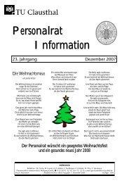 Personalrat Information - Personalrat - TU Clausthal