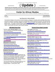 New Resources on Africa 2004 - Center for African Studies ...