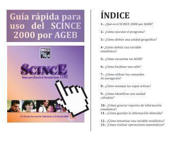 Guía rápida para uso del SCINCE 2000 por AGEB - Universidad ...