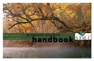 Graduate Handbook - School of Forest Resources & Conservation ...