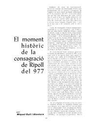 El moment historie de la consagrado de Ripoll del 977 - RACO