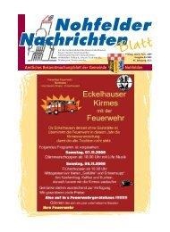 19:00 uhr Beginn:20:30 Uhr 5 - Gemeinde Nohfelden