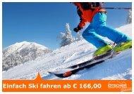 Einfach Ski fahren ab € 166,00