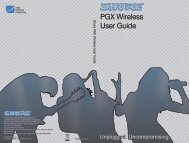 Shure PGX Wireless User Guide Portuguese - Canford Audio