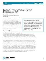 Native Interpretation in the Harlequin RIP - Global Graphics