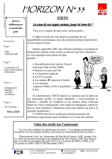 Edito - Fédération CGT des transports - La cgt