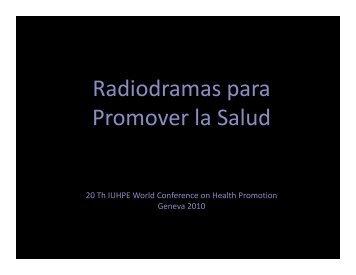 Radiodramas para Promover la Salud - Iuhpe ...