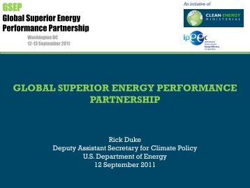 Opening Remarks - Clean Energy Ministerial