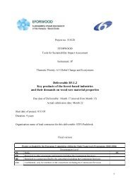 Deliverable D3.1.2 Key products of the forest-based industries and ...