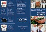 Kulinarischer Kalender - Fleischerei und Partyservice Nowatzki