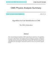 Algorithms for b Jet identification in CMS - CERN Document Server