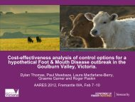 Cost-effectiveness analysis of control options for a hypothetical Foot ...