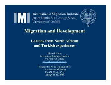 Migration and Development - Initiative for Policy Dialogue