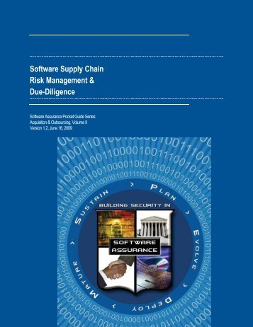 Software Supply Chain Risk Management & Due-Diligence